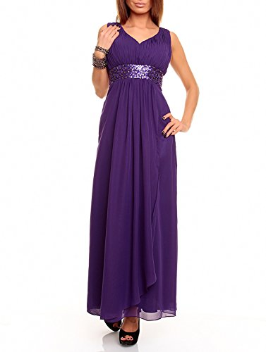 Chiffon Empire-cocktail (Astrapahl Damen br09111ap Kleid, Violett (Lavendel), 42)