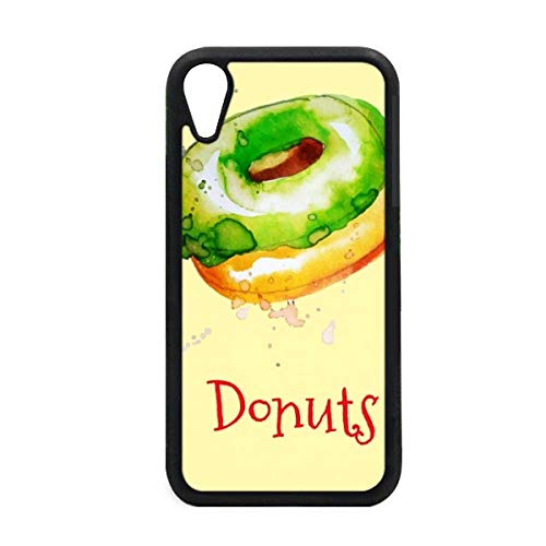 Watercolor Hand-Painted Green Doughnut Dessert iPhone XR iPhonecase Cover Apple Phone Case Hand Painted Dessert