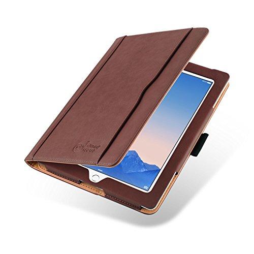 iPad 4 Hülle | JAMMYLIZARD Ledertasche Flip Case [Business Tasche] Leder Smart Cover Lederhülle für iPad 4. 3. & 2. Generation, Braun & Honig [mit Eingabestift & Pencil Halter]