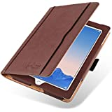 iPad Air 2 Case - The Original Brown & Tan Leather Smart Cover for iPad Air and Air 2 2013 2014 (5th and 6th Gen)