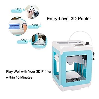 Demu 3D Drucker im Set DIY 3D Printer Mini 3D Drucker Profi Printing Düse Hohe Präzision mit Plattform chauffante kompatibel ABS PLA Filament 1,75mm