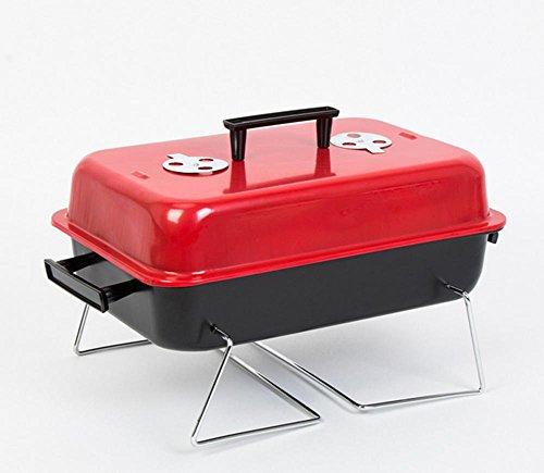 LINGHOU Pieghevole Portatile Del Carbone Di Legna Barbecue Grill Con Strumenti BBQ All'Aperto