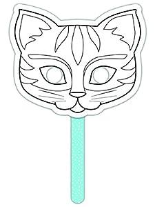"""Avenue Mandarine """"Gato Color su Propia Colorido Stick Máscara (Negro/Blanco)"""