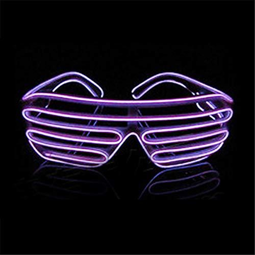 Y-XM LED Erleuchten Brille Mode Dekoration Brille Leuchten Im Dunkeln, Weihnachten Aktivität Party Lieferungen,Purple
