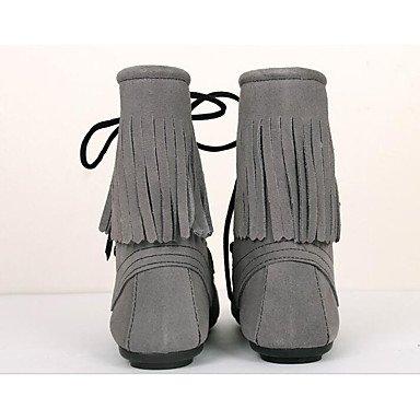 Stivali da donna Comfort Suede Primavera Casual Marrone Giallo Piatto Grigio Brown