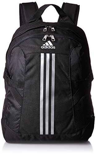 adidas Zaino 3-Stripes, Nero (Black/metallic Silver), 44 x 18 x 32 cm