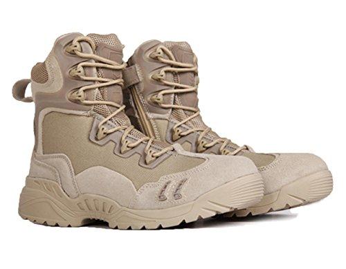 WZG scalata esterna ad alta cima desert boots stivali da uomo ragno tattici stivali di combattimento degli uomini stivali commando pizzo stivali , sand color , 42