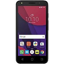 "ALCATEL PIXI 4 - Smartphone, 5"", 4G, 8GB, SIM doble, Android, MicroSIM, EDGE, GPRS, GSM, HSPA+, UMTS, LTE, color negro/blanco"