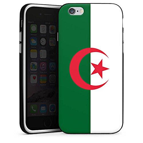 Apple iPhone 6 Housse Étui Silicone Coque Protection Algérie Drapeau Ballon de football Housse en silicone noir / blanc