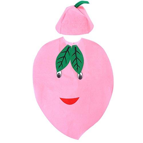 BESTOYARD Kinder Obst Gemüse Kostüm Kinder Pfirsich Party Kleidung Kostüme für Halloween Cosplay Weihnachten Holiday (Juicy ()