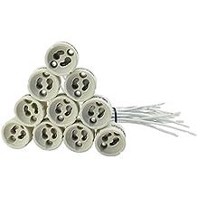 Paquete de 20 unidades EVolution GU10 Versión Zócalo Cerámica con 0,75mm² calidad de cable silicona para LED y halógeno