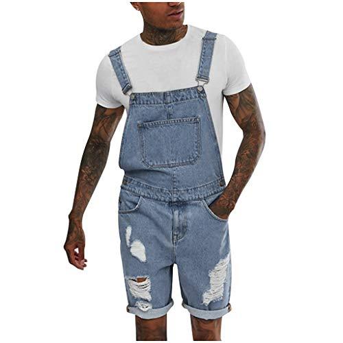 SSUPLYMY Herren Jeans Overall Jumpsuit Streetwear Hosenträgerhose Mehreren Taschen Und Gewaschenem Riemen Freizeithose Plus Pocket Jeans Overall Overall Hosenträgerhose Jumpsuit -