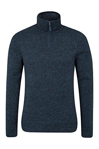 Mountain Warehouse Idris Fleecejacke für Herren - Leichtes Oberteil, atmungsaktives Sweatshirt, schnelltrocknend, weiche Mikrofleecejacke - Für Camping bei kaltem Wetter Petrolblau Medium