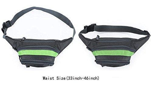 Estwell Wasserdicht Bauchtasche Gürteltasche Outdoor Sport Reise Hüfttasche für Wandern, Laufen, Radfahren, Angeln Schwarz