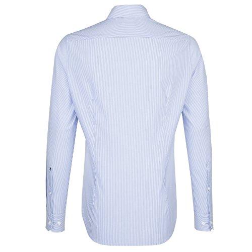 Seidensticker Herren Businesshemd X-Slim Extra Langer Arm mit Kent-Kragen Bügelfrei Uni Blau (Hellblau 12)