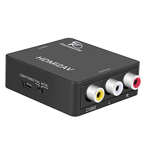 Moderne HDMI to RCA,Famounte HDMI to RCA/AV/CVBS Composite Converter Video PC-16