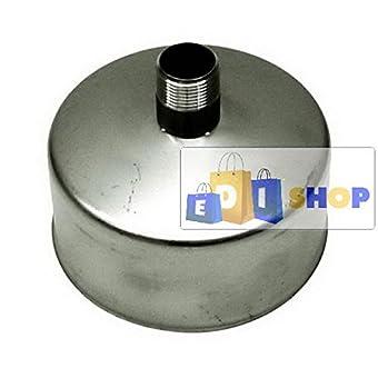 CHEMINEE PAROI SIMPLE TUYAU TUBE INOXIDABLE AISI 316 - dn 200 tappo raccogli condensa canna fumaria tubo acciaio inox 316 parete semplice