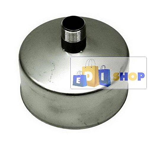 CHEMINEE PAROI SIMPLE TUYAU TUBE INOXIDABLE AISI 316 - dn 150 tappo raccogli condensa canna fumaria tubo acciaio inox 316 parete semplice