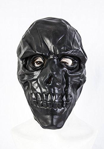 The Rubber Plantation TM 619219291552Latex Maske Fancy Kleid Halloween Totenkopf Joker Skelett Horror Kostüm Zubehör, Unisex, schwarz, one size
