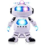 D&K Dancing Robot With LED Light And Music, Multi Color