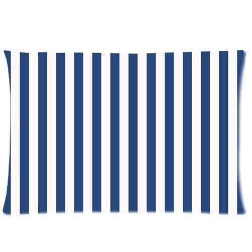Rechteck Navy Blau und Weiß Gestreift Werfen Kissen Fall Reißverschluss Kissen Cover Home Sofa Deko 50,8x 76,2cm Zoll (Zwei Seiten) -