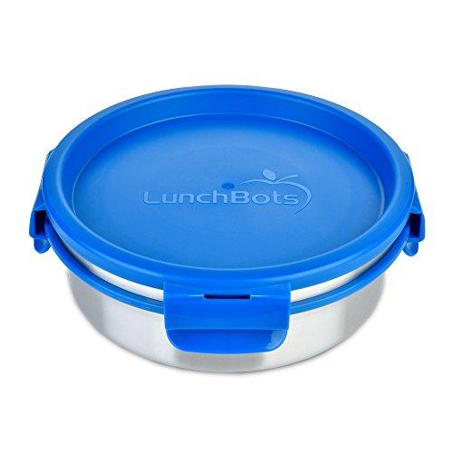 LunchBots clics ensalada recipiente–recipiente con tapa para alimentos (con tapa extraíble de acero inoxidable–ideal para ensalada, restos y saludable comidas–respetuoso con el medio ambiente, se puede lavar en lavavajillas. Y sin BPA