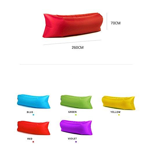 Inflate Portable Lazy Lounger Schlafsack, Outdoor Indoor Air Schlaf Sofa Laybag Couch Bett, Nylon wasserdicht zusammenklappbar, Sitzsack zum Faulenzen, Sommer Camping, Strand, Angeln (grün)