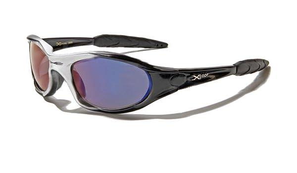 X-Loop Lunettes de Soleil - Sport - Cyclisme - Ski - Running - Moto - Plage / Mod. 2044 Gris Noir Spectrum Bleu