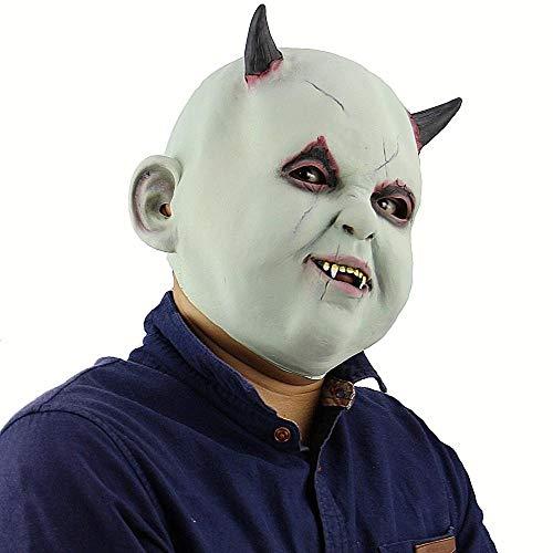 Kostüm Männliche Beängstigend - NiQiShangMao Realistische Latex menschliche Maske beängstigend voller Kopf männlicher Mann Masken für Halloween Kostüm Cosplay Kostüm