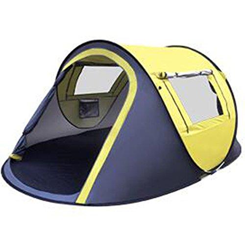 Tent Outdoor-Zelt 2 Sekunden Automatische Geschwindigkeitsöffnung Automatische Springende Zelte 2-3-4 Personen Zelte müssen keine Strandzelte bauen Bootstyp Zelte (Farbe : Gelb)