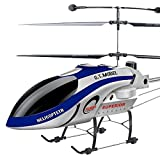 WQGNMJZ QS8008 1.68 M Grandes Aviones De Control Remoto 3,5-Pass Helicóptero RC Avión Juguete Eléctrico Gigante Avión De Juguete,Blue