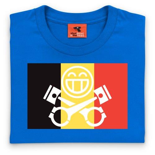 PistonHeads Belgium T-Shirt, Herren Royalblau