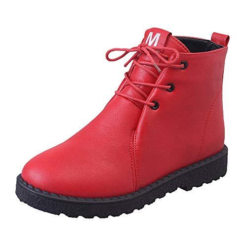 MYMYG Winter Schneestiefel Damen warme Baumwolle Schuhe Student Boots Wasserdichte Boot Chelsea Stiefel Freizeit Übergrößen Schöne Boots Chelsea Flach Wildleder Kurzschaft Stiefel
