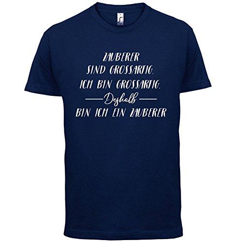 Ich Bin Grossartig - Zauberer - Herren T-Shirt - 13 Farben Navy
