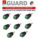 IBALL Brand DC Connectors Screw Type (Green) For CCTV Camera,(Pack Of 8Pcs. Connectors)