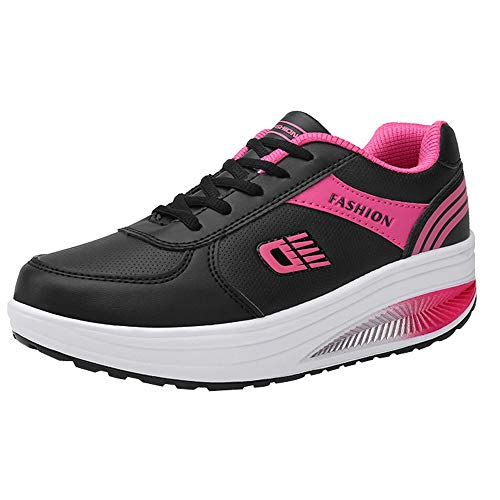 Damen Schaukelschuhe,TWBB Mode PU Leichtgewicht Schuhe Turnschuhe Luftkissen Sportschuhe Outdoor Freizeitschuhe