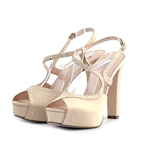 Sandali gioielli Tiffi platino 37