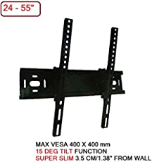 "Tilt Wall Mount Bracket for LED LCD Plasma TV| 15 Degrees tilt | Heavy Duty Iron Cast| with Screw kit (32-49"")"