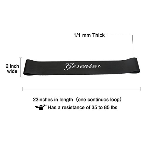 Set-of-2-Resistance-Bands-2-Levels-Exercise-Loop-Band-Gesentur-Premium-Latex-Pull-Up-Fitness-Exercise-Band-Workout-Strap-Workout-Equipment-for-Yoga-Crossfit-Fitness-Pilates-Strength-Physical-Therapy-M