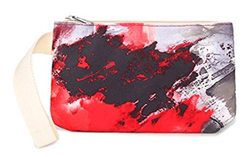 Keshi neuer Stil Damen accessories hohe Qualität Einfache Tasche Schultertasche Freizeitrucksack Tasche Rucksäcke Rot