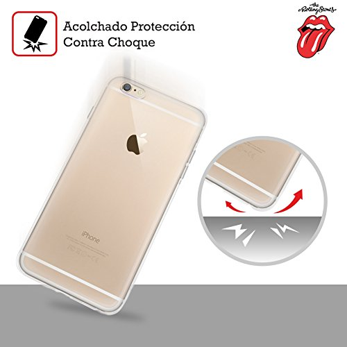 Ufficiale The Rolling Stones Lingua Classica Arte Chiave Cover Morbida In Gel Per Apple iPhone 6 / 6s Voodoo Lounge