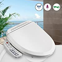 KINSE Sedile wc Multifunzione con bidet Bianco copri WC intelligente telecomando elettrico 220V