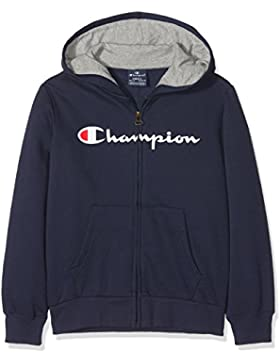 Champion Hooded Full Zip Sweatshirt, Sudadera con Capucha para Niños