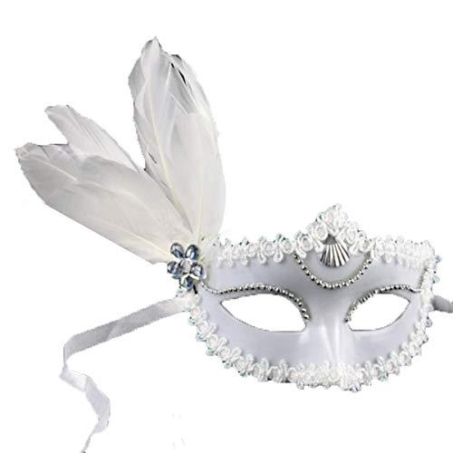 Maske Maskerade Prom Maske Party/Dinner Party/Halloween/Weihnachten Maske Maskerade Maske Walking Show Paar Maske Ghost Festival Masken (Farbe: Weiß) (Captain America Paar Kostüm)