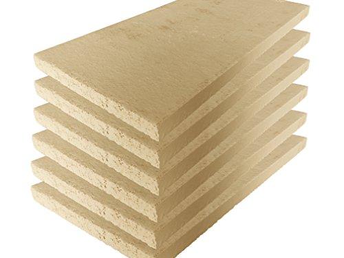 Schamotte-Platte 40 x 20 x 3 cm -