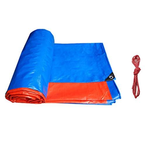 ZHANGGUOHUA PE Regenschutztuch Sonnenschutzplane wasserdichte Outdoor Elektro Dreirad Parkhaus Baldachin Dach Schatten Tuch (Farbe : Blue orange, größe : 6x6m)