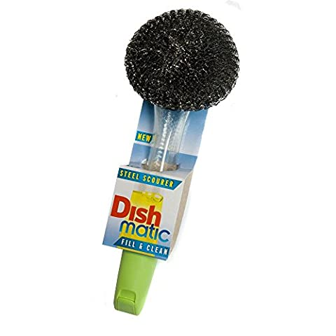 Dishmatic Steel Scourer for cleaning BBQ's, Grills, Hot Plates, Steel Pots & Pans. Made in Uk from Caraselle