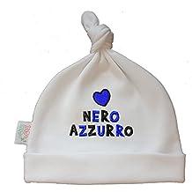Zigozago - Cappellino Cuffia con Nodo Cuore NERAZZURRO - Taglia 0-6 Mesi f03820160a54