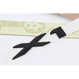 E694 X1 Schwarz Emblem Badge auto aufkleber 3D Schriftzug hinten Abzeichen Car Sticker Zahlziffer