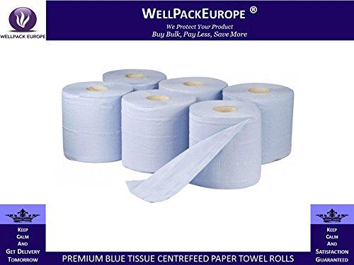 12rotoli di carta velina blu 2pieghe goffrato Centrefeed carta asciugamano rotoli-pulizia rotoli Next Day UK Delivery * * * * * * * * * * * visitare il nostro emozionante Amazon imballaggio catalogo-Search > Wellpack Europa